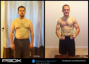 P90X transformation results